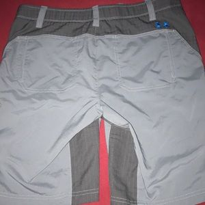Under Armour shorts.